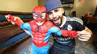 BABY SPIDERMAN ATTACKED ME!!