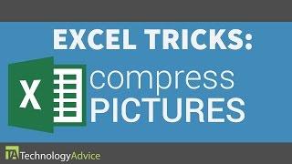 Excel Tricks - Compress Pictures in Excel