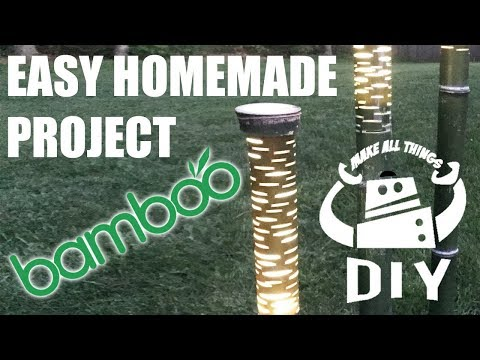 LED Bamboo Landscape Lights - NO WIRE - NO COST - DIY