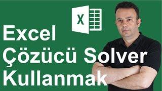 Excel Çözücü - Solver Kullanmak   293.video   Ömer BAĞCI