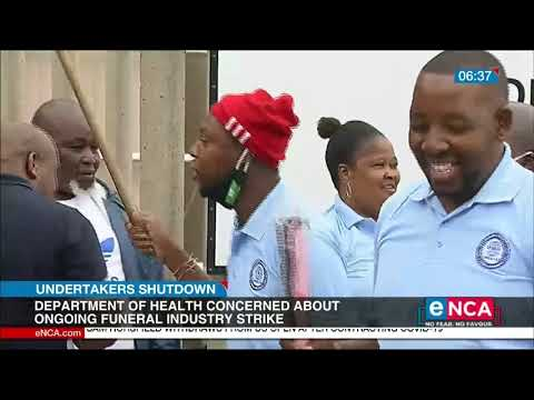 Health Department is concerned about the undertakers' strike