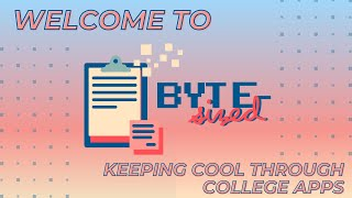 Keeping Cool During College Applications