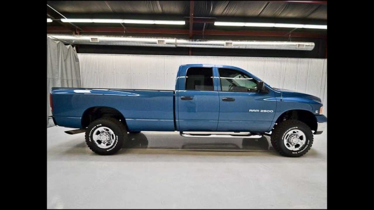 Ram 2500 For Sale >> 2004 Dodge Ram 2500 Diesel Quad Cab SLT Lifted Truck For ...