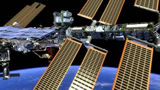 Fly Around International Space Station