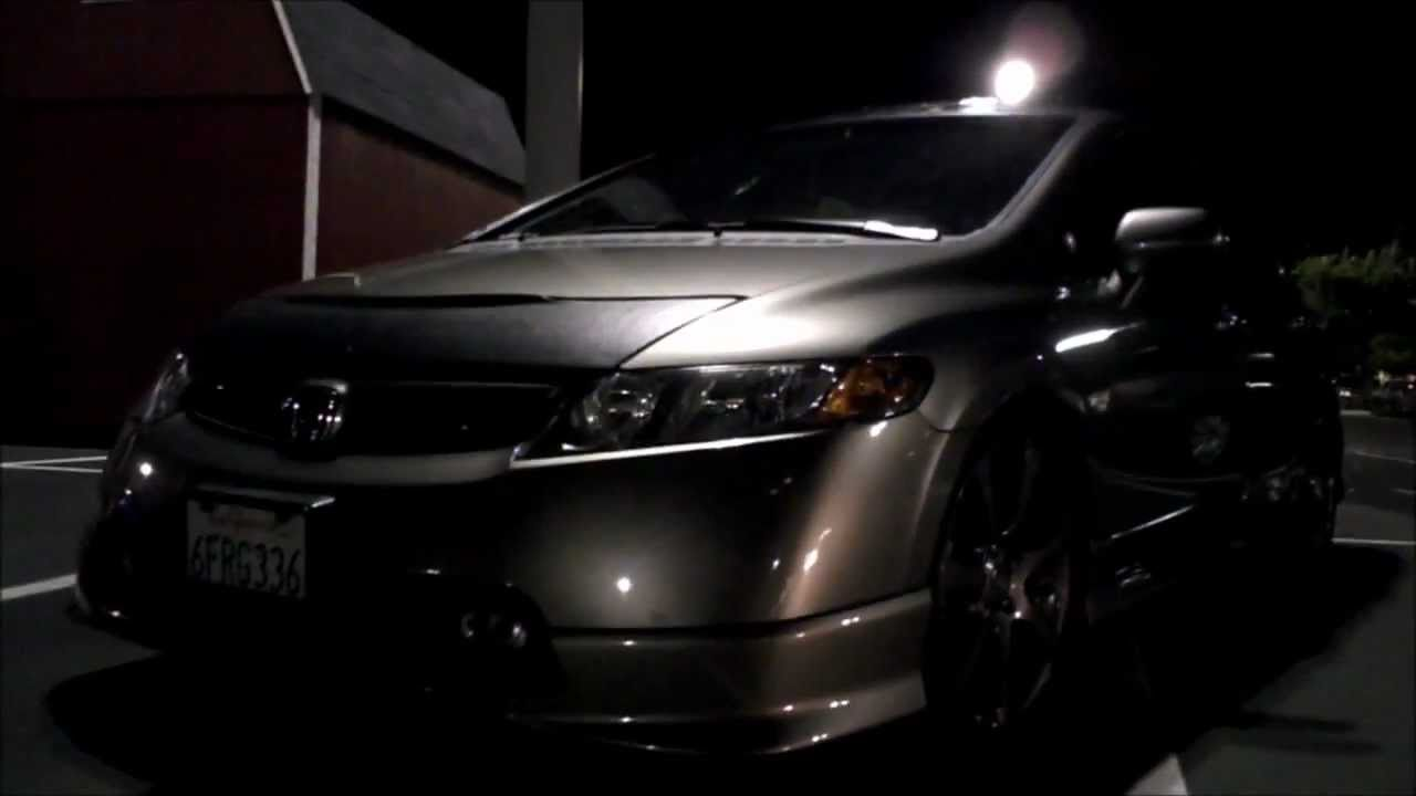 Honda Factory Rims >> 2008 Honda Civic Si Sedan with OEM HFP(Honda Factory Performance) body kit and rims on H&R ...