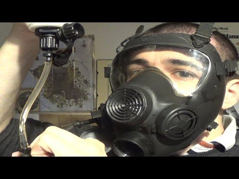 Polish MP-5 Gas Mask Drinking Tube Test