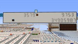 32 Bit Minecraft Redstone Calculator (Taschenrechner)