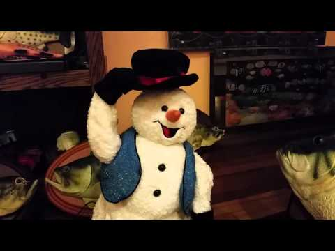 Spinning snowflake snowman blue vest version #1