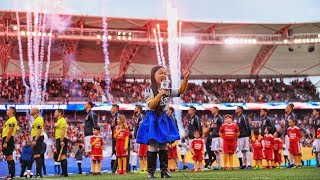 SHE'S BACK! Malea Emma rocks the national anthem at the LA Galaxy home opener