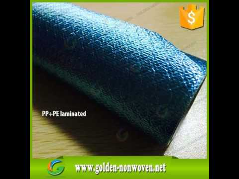 laminated nonwoven fabric/lamination non woven (PP+PE film )