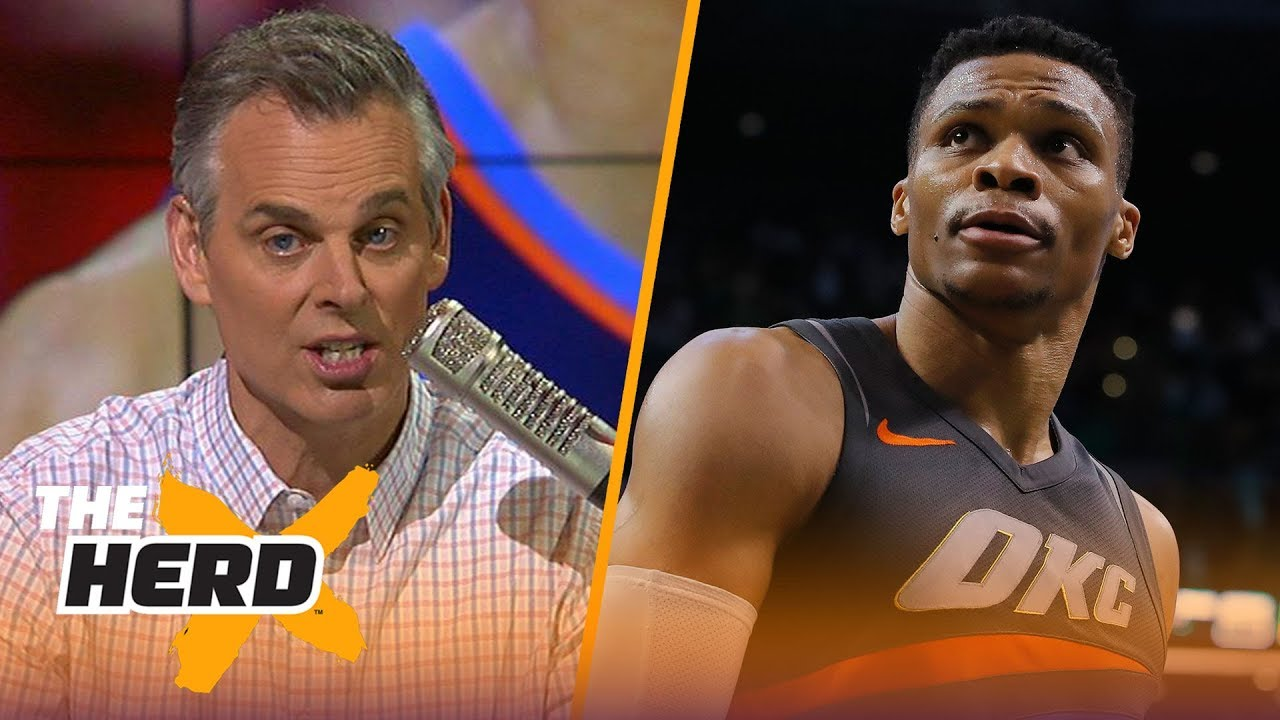 Colin Cowherd reacts to Russell Westbrook's poor late-game play in OKC's loss to Spurs | THE HERD
