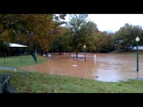 Little River Park Flood, Laurens SC 11/2/2015 - YouTube