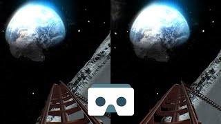 Virtual Reality Roller Coaster on the Moon: 3D Video for VR Box, vr headsets, Samsung Gear VR