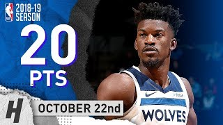 Jimmy Butler Full Highlights Wolves vs Pacers 2018.10.22 - 20 Points!