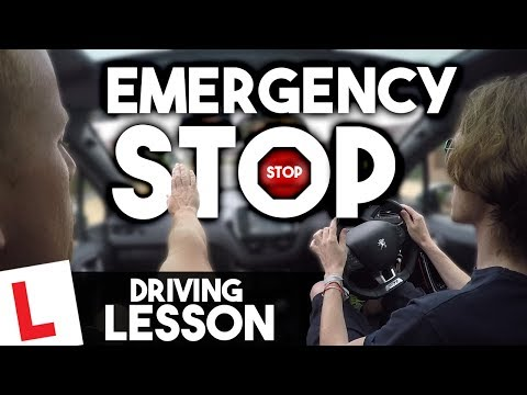 How to Emergency STOP & Parallel Park [UK Driving Lesson]