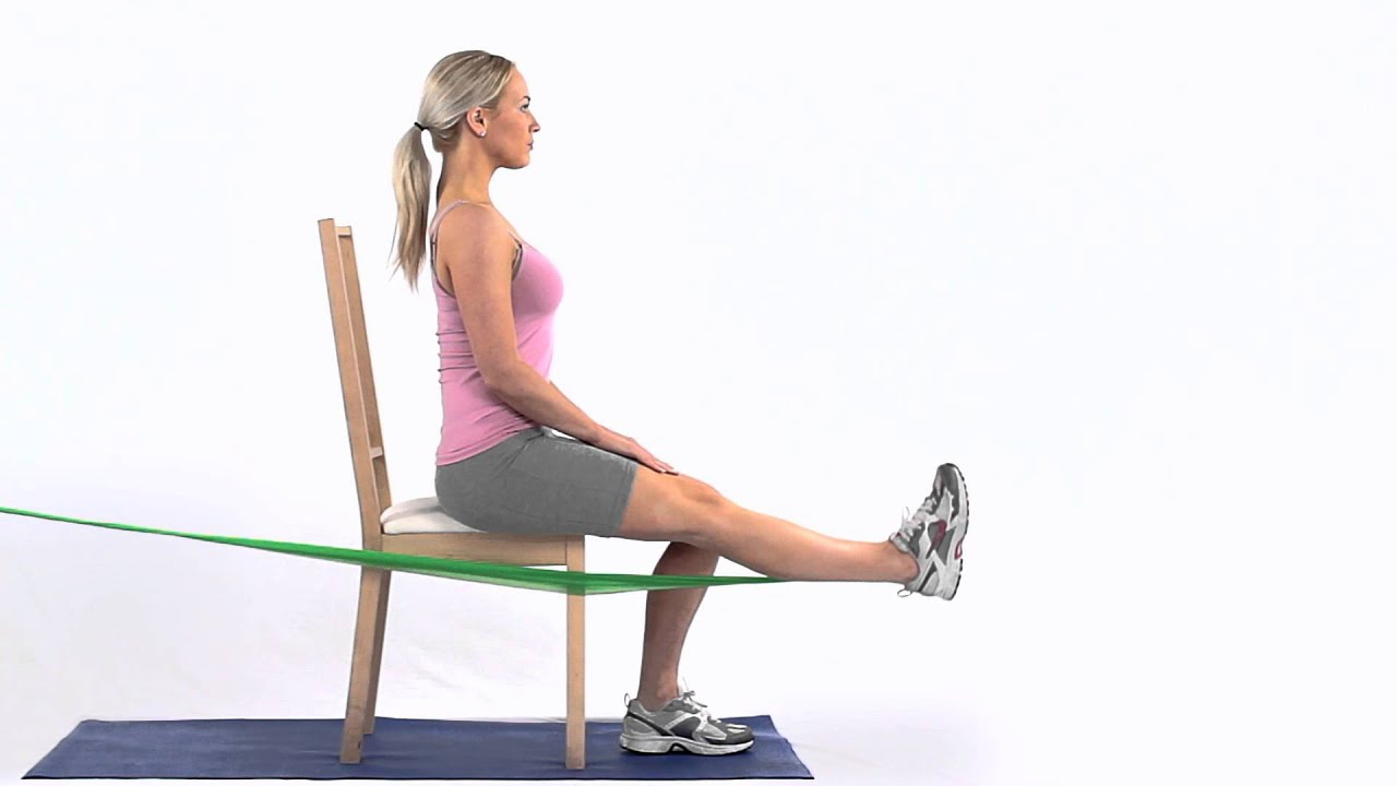 How to strengthen your quadriceps with a band sitting ...
