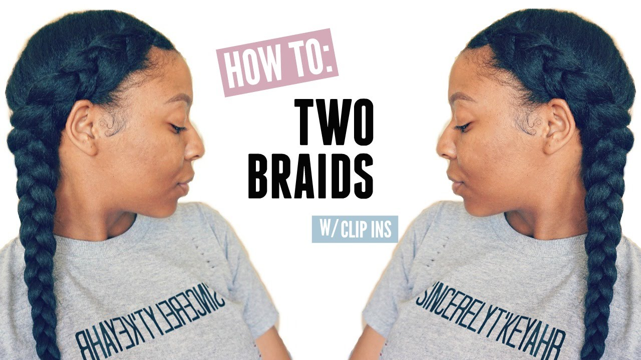 How To: French Braids w\/Clip In Extensions Easy Hairstyles - T