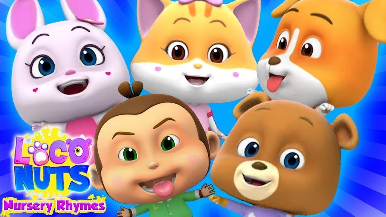 Download Five Little Babies   Old Macdonald   Twinkle Twinkle   Nursery Rhymes   Baby Cartoon - Loco Nuts