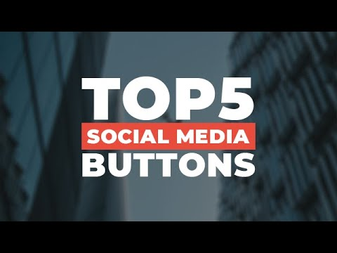 TOP 5 Social Media Buttons Using HTML & CSS