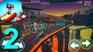 Gravity Rider: Space Bike Racing Game Online Walkthrough Part 2 / Android iOS Gameplay HD