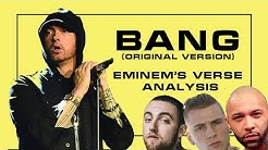 Analysis of new Eminem's lines on the original version of Bang. Disses on MGK, Joe Budden & RevoltTV