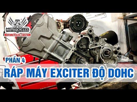 Phần 4 Lên Đầu DOHC Cho Exciter 135 Ráp Máy