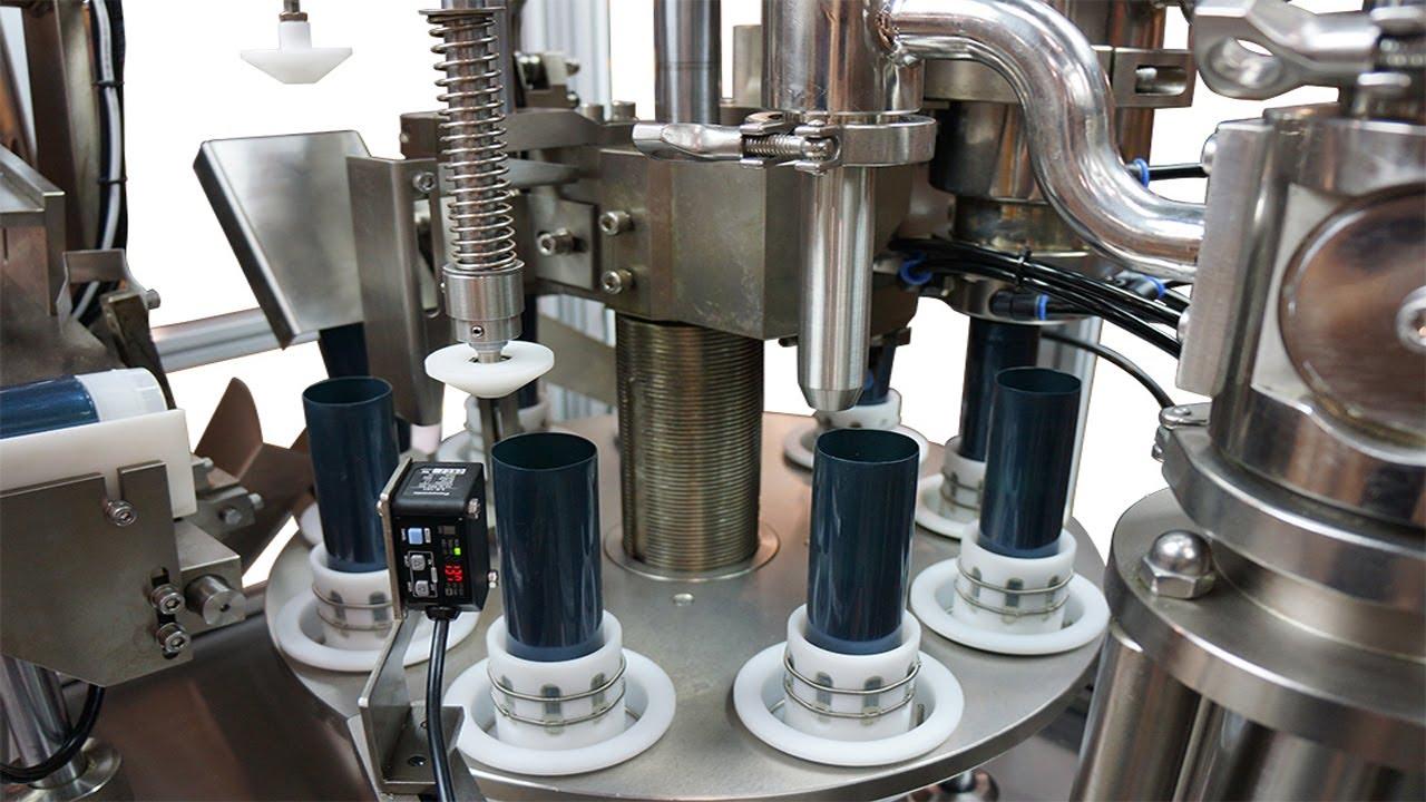 Plastic Tubes Fill And Sealing Machine Semi Auto Food