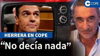 """Herrera sobre Sánchez: """"Pedrito Calamidad en televisión cada dos por tres"""""""