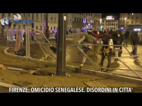 Omicidio senegalese a Firenze, disordini in città