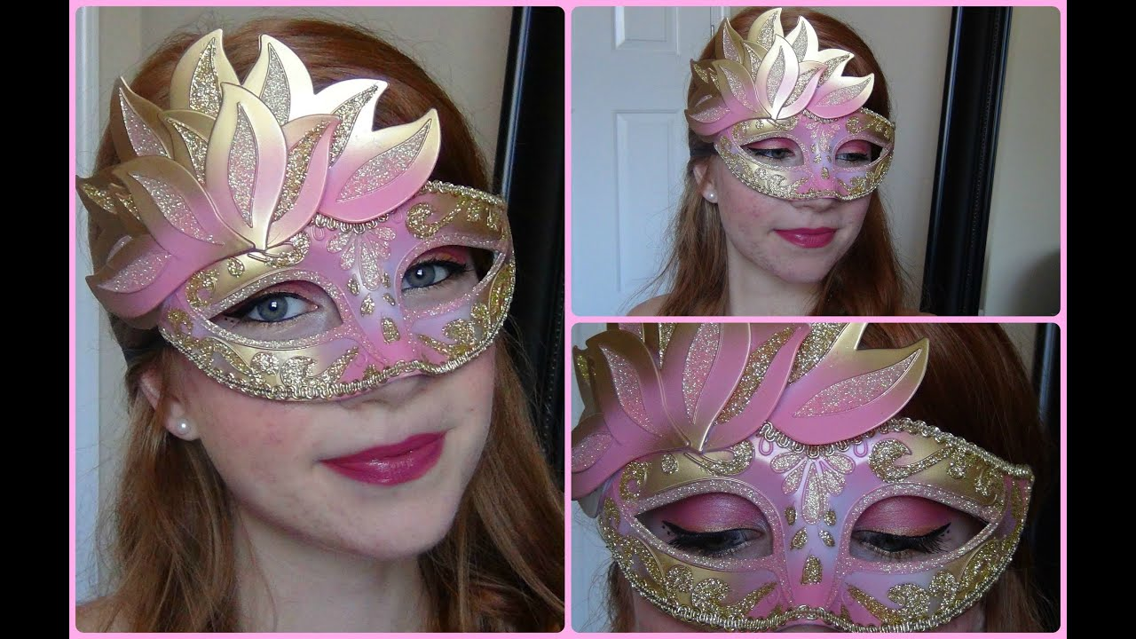 Under The Mask Masquerade Makeup Tutorial Youtube