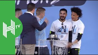 Leroy Sane, Bernardo Silva and more Man City stars celebrate treble