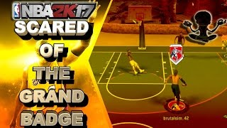 😱THE FEAR OF THE GRAND BADGE IS REAL🤔 | BEST POINT FORWARD BUILD - NBA 2K17 MYPARK