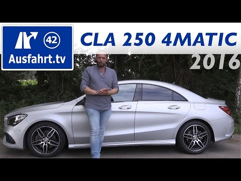 2016 Mercedes-Benz CLA 250 4MATIC Coupé (C117 Mopf) - Fahrbe