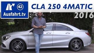 2016 Mercedes-Benz CLA 250 4MATIC Coupé (C117 Mopf) - Fahrbericht der Probefahrt, Test, Review