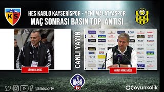 Kayserispor - Malatyaspor Basın Toplantısı (CANLI)