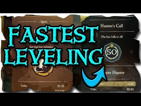 HOW TO LEVEL HUNTER CALL FAST - Sea Of Thieves Fishing Guide