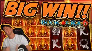 BIG WIN!!! Book of Ra 6 BIG WIN - Casino Games from CasinoDaddy (Gambling)
