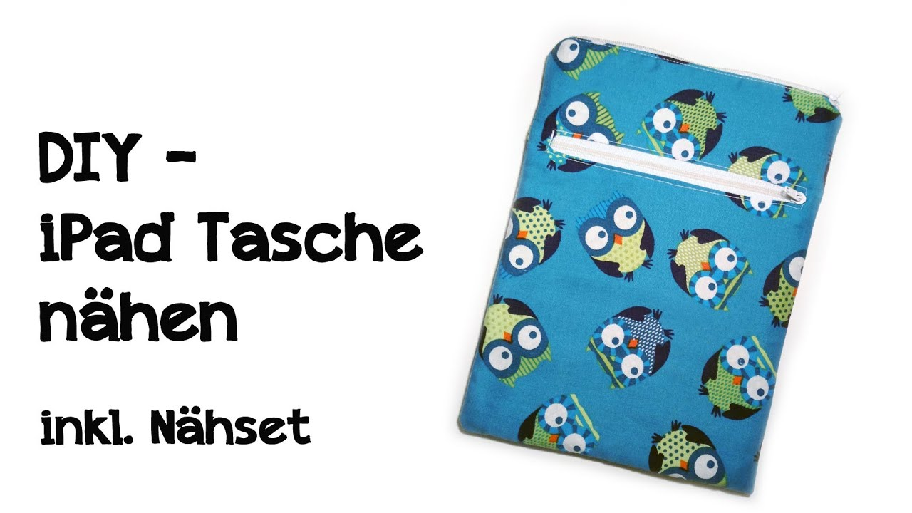 diy ipad tasche kindle tasche n hen inkl n hset zum nachmachen youtube. Black Bedroom Furniture Sets. Home Design Ideas
