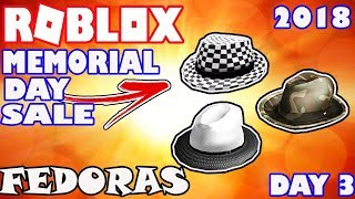 [SALE] Checkered, Camouflage, and Two Tone Fedora Hats on Sale - Roblox Memorial Day Sale 2018