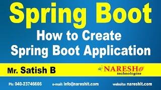 كيفية إنشاء الربيع التمهيد التطبيق | ربيع التمهيد التعليمي | السيد ساتيش ب