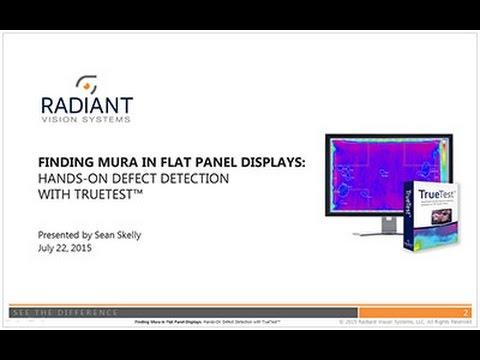 Finding Mura in Flat Panel Displays