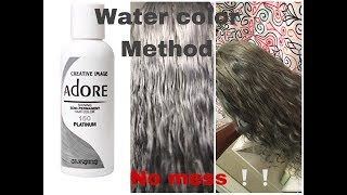 How To Water Color Hair  Silver/Grey✨