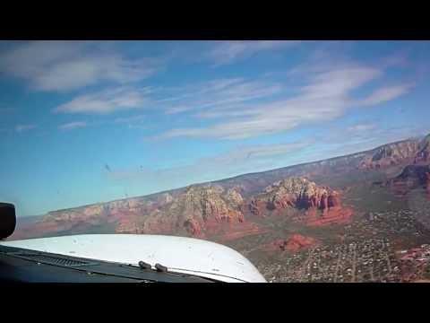 Private Pilot License Training: Dual Cross Country  Chandler, az landing at Sedona