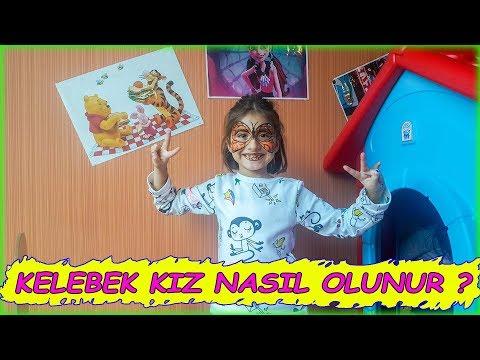 Download Ela Kelebek Kiz Oldu Eğlenceli Yüz Boyama Eğlenceli çocuk