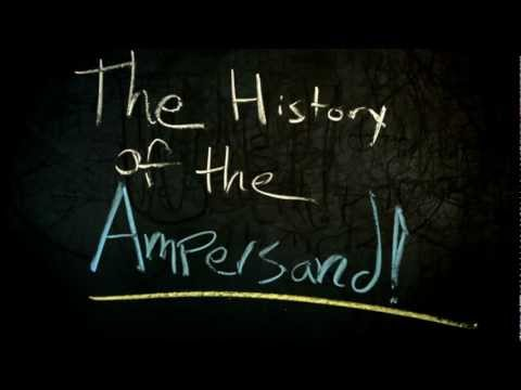 Chalking Points - History of the & (the Ampersand)