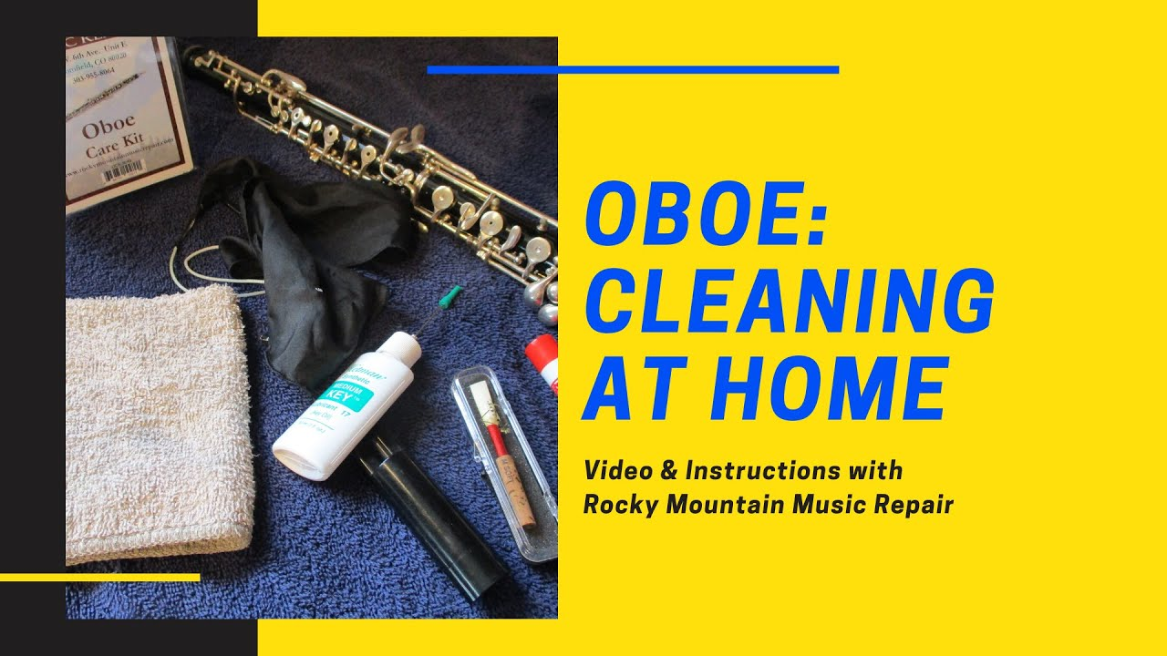 Cleaning your Oboe at Home