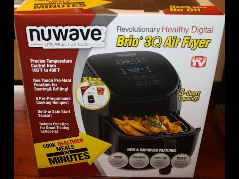 NuWave Brio 3Q Air Fryer Unboxing & First Use
