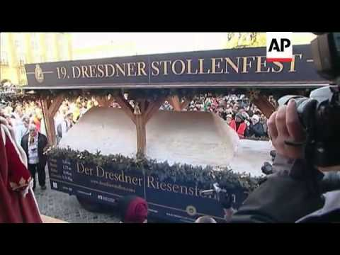 Dresden honours its most famous product, the stollen cake