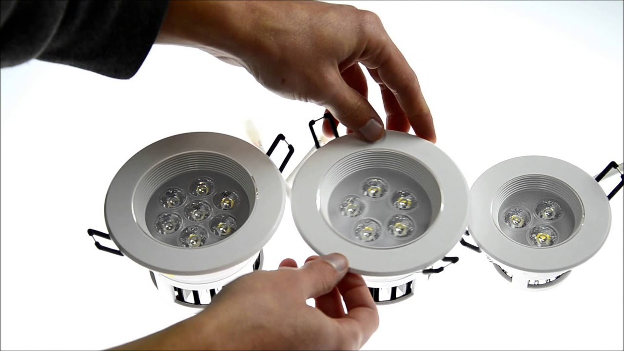 Plafoniera Led Soffitto Bricoman : Faretti a led da incasso nuovi youtube