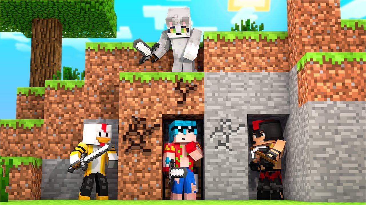 Minecraft: TIMBA VS 3 CAZADORES COMPAS 😱 ¡el MEJOR ESCONDITE en El JUEGO del PANSITO!